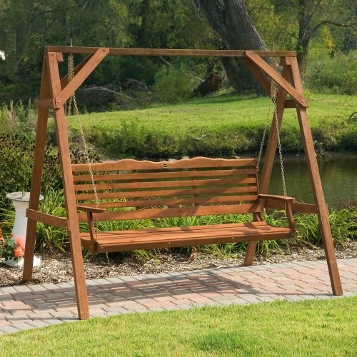 Prescott 5 ft wood porch swing outdoor project ideas pinterest
