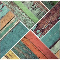 Vintage Colors Faux Wooden Panels | Removable Wall Decals | Walls Need Love