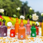 Intimate morning wedding in Delhi with colorful DIY Decor