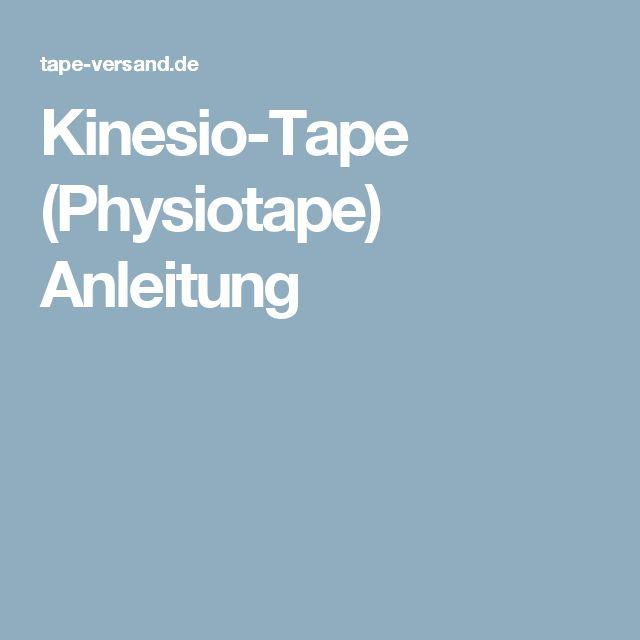 Kinesio-Tape (Physiotape) Anleitung
