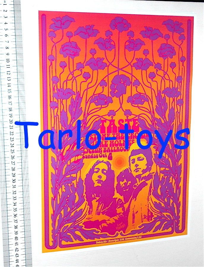 RORY GALLAGHER - TASTE - Baton Rouge, usa - 4 october 1970 - concert poster