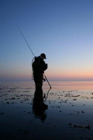 Morgendämmerung auf der Insel Als ... und die Meerforellen kommen!