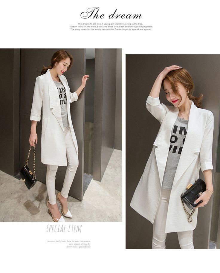 2015新型薄いコート着やせ上着七分袖UVコート