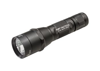 SureFire P2X Fury Tactical Compact LED Flashlight.  Many deployed soldiers rely on SureFire flashlights.  It's a high dollar item so ask before you send.