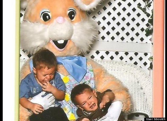 Funny Easter Pictures: Kids vs. The Easter Bunny