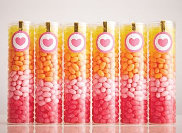 Colorful candy favors