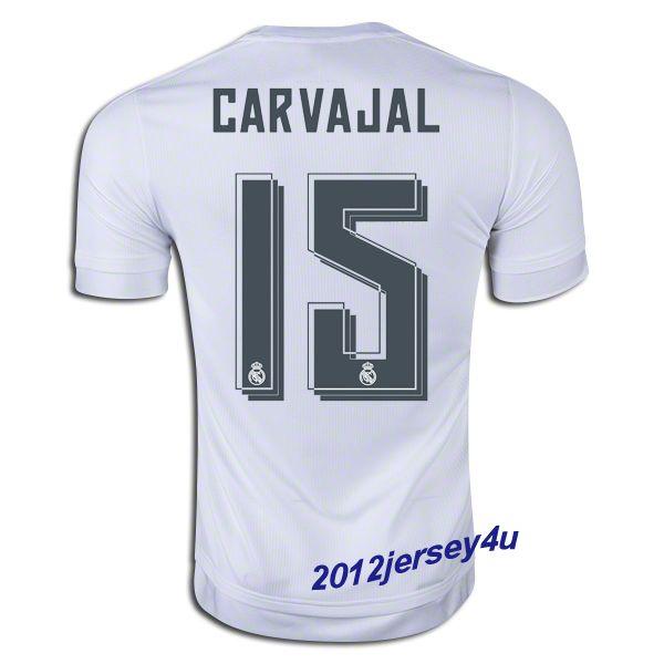 795870822 Real Madrid font 1516 Daniel Carvajal 15 Real Madrid 1516 Home Jersey 2015- 16 ...