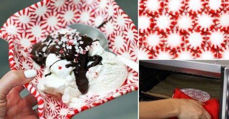 Cómo hacer una dulcera con caramelos derretidos para regalar en navidad