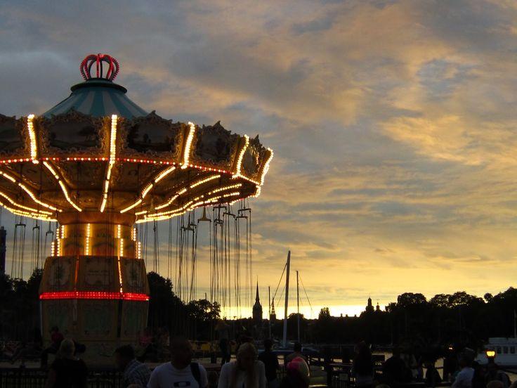 Tivoli Grøna Lund amusement park in Djurgården, Stockholm