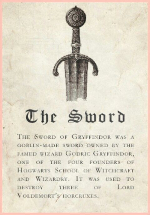 Gryffindor Relic: The Sword