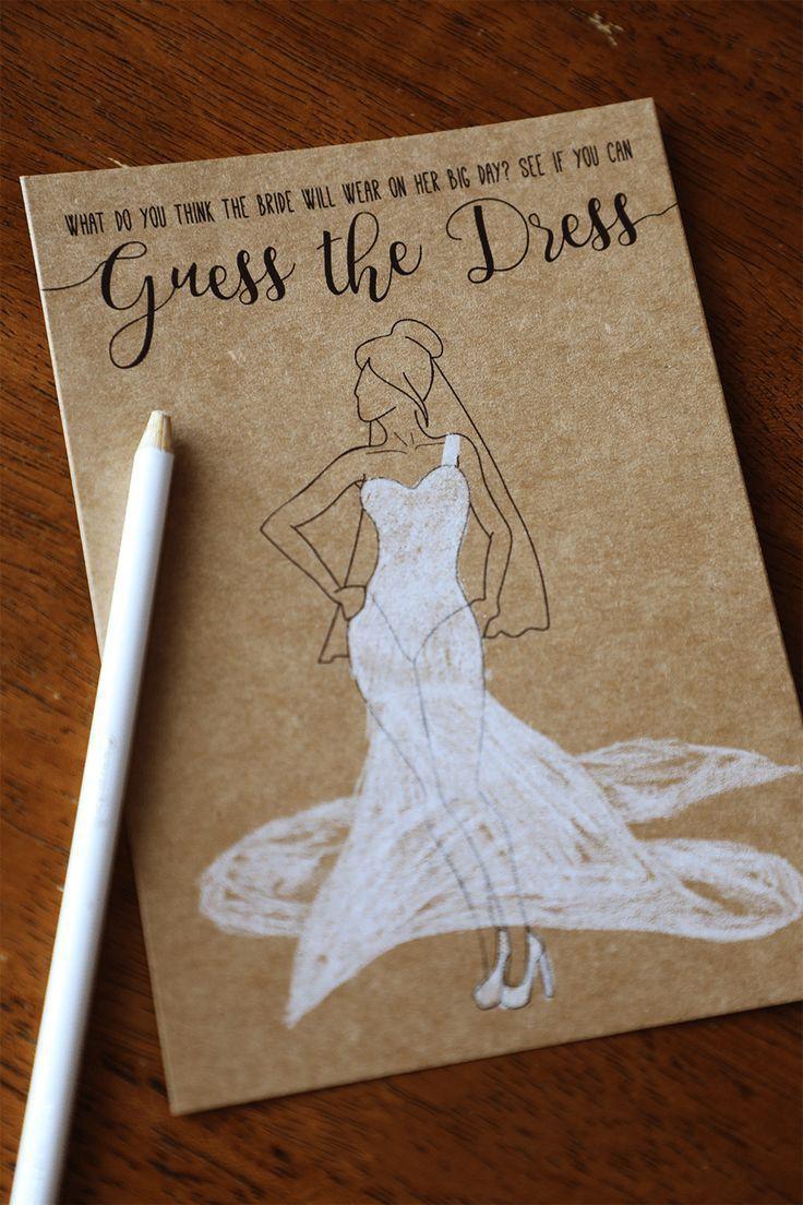 Ratet mal das Kleid druckbare Bridal Shower Spiele…