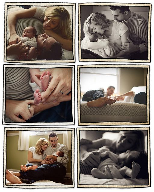 Newborn photo ideas...love that daddy is included in the photos!!