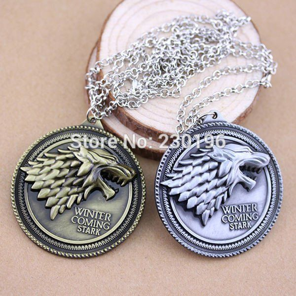 Game of Thrones House Stark Necklace Winter Is Coming GoT – The Cynical Clique