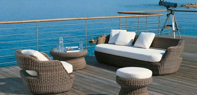 Rattan garden furniture - garden paradise in the Mediterranean style