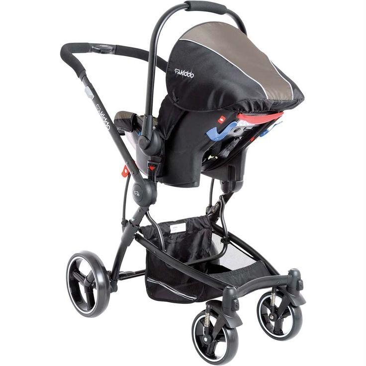 Carrinho de Bebê Moises e bebe conforto Travel System Aspen Preto Capuccino Lenox Kiddo R$ 1482