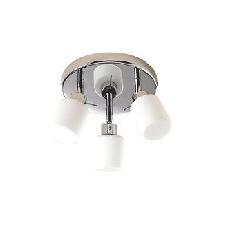 Luxor 3-Plate Bathroom Spotlight Chrome & White S15 25W | Bathroom Ceiling Lights | Screwfix.com