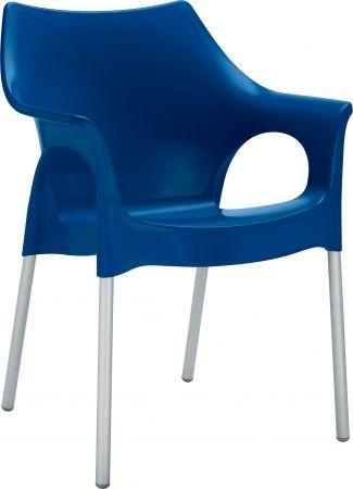2017 Gartenstühle Kunststoff Blau