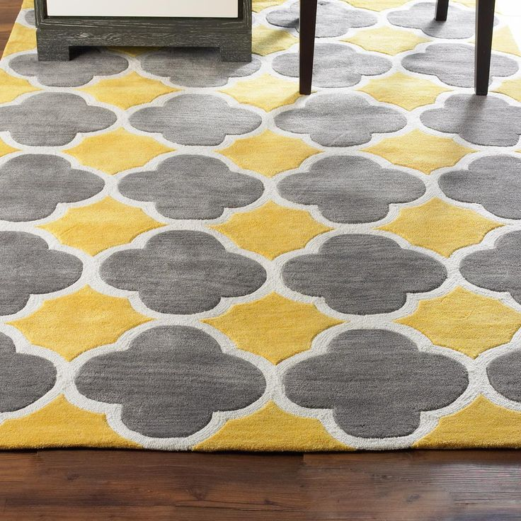 Cloverleaf Quatrefoil Rug Yellow Gray Bedroomyellow