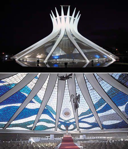Cathedral of Brasília: The Modern Church of architect Oscar Niemeyer - Brasil