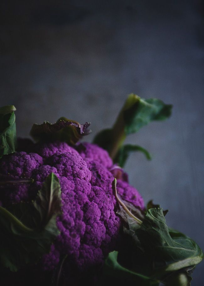 Moody purple cauliflower