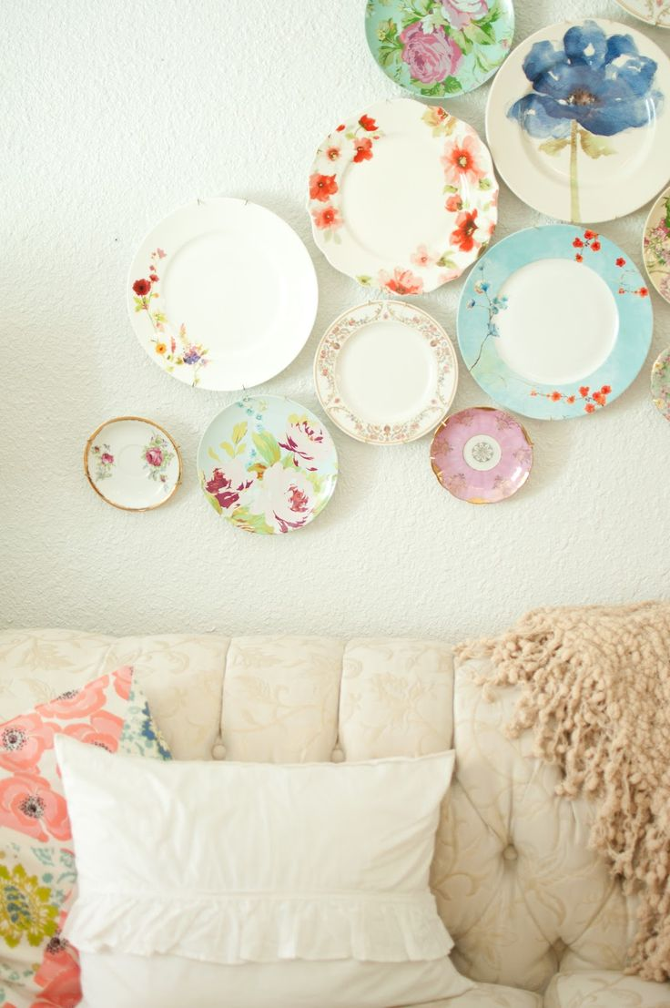 colorful floral plates