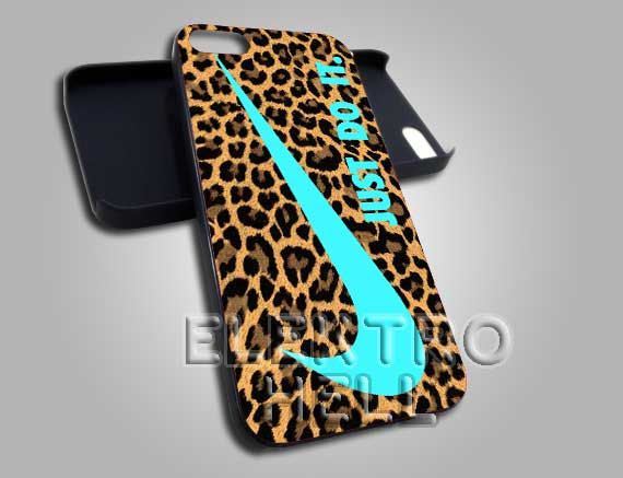 Mint Nike Just Do It Lepopard - iPhone 4/4s/5 Case - Samsung Galaxy S3/S4 Case - Black or White by ELECTROHELL, on Etsy