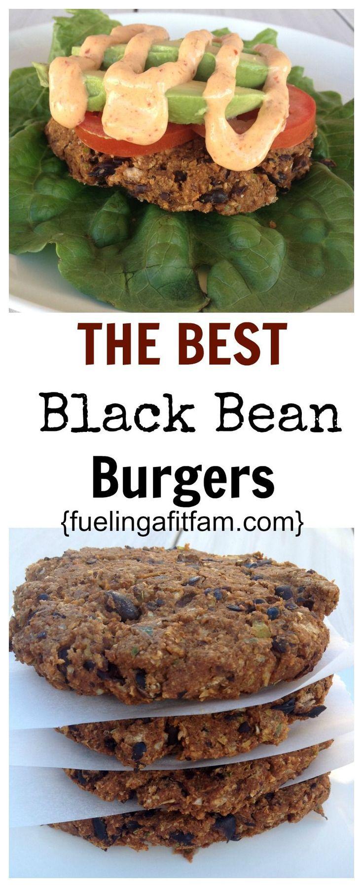 THE BEST Black Bean Burgers.