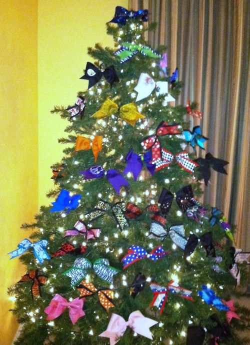 Decorate Christmas Tree With Bows : Best ideas about cheerleading bedroom on