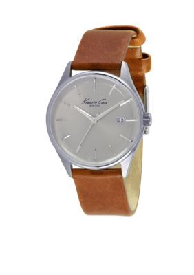 Kenneth Cole Brown Womens Classic Leather Watch