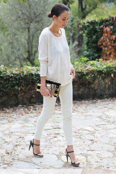 清潔感ある白コーデに欠かせない☆白スリムデニムのコーデ☆スタイル・ファッションの参考に♪