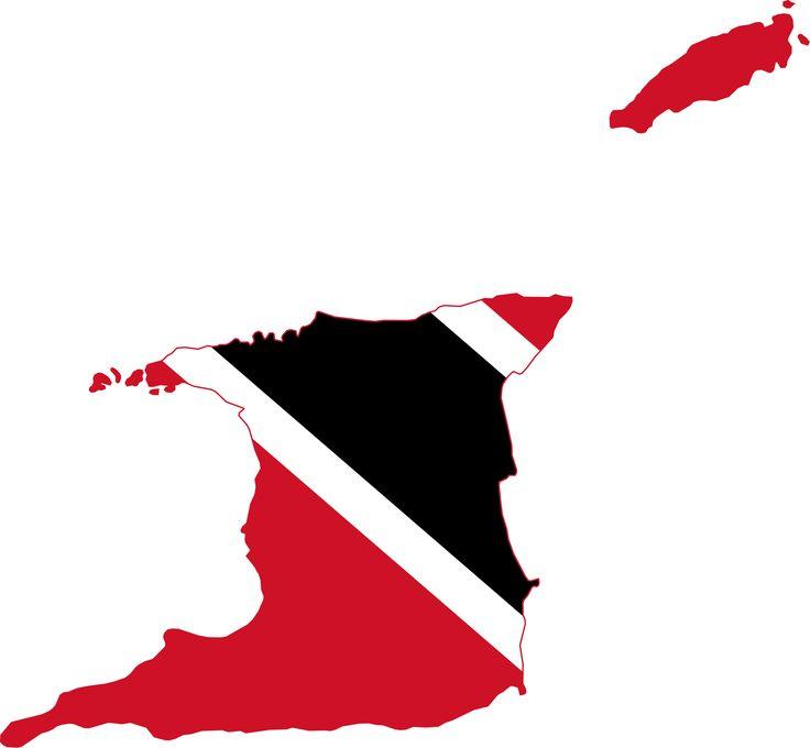 Flag map of Trinidad and Tobago
