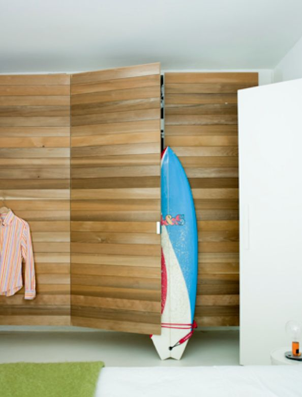 Need closet doors like this - sliding or stationary.