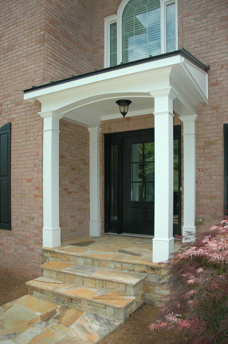 24 best images about economical flat roof porticos on for Front porch roof types