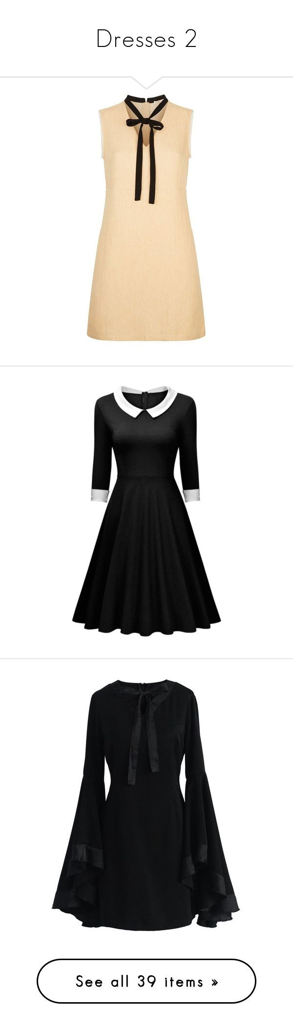 """Dresses 2"" by sailorjerri ❤ liked on Polyvore featuring dresses, beige summer dress, bohemian summer dresses, boho style dresses, beige dress, boho dresses, rosegal, retro dresses, retro-inspired dresses and longsleeve dress"