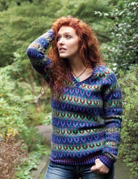 41 best Knitting tops images on Pinterest   Fair isle knitting ...