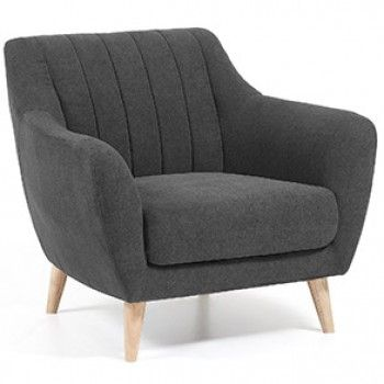 Butaca obo gris oscuro home sweet ideas sillones - Butacas individuales ...