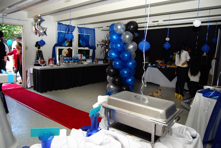 Pre Party Room Setup Champagne Party Garage Party