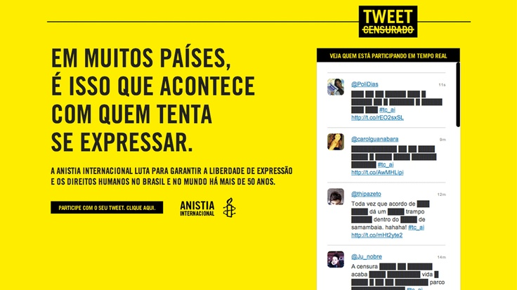 Anistia Internacional: Tweet Censurado (DM9Rio) [Silver PR]