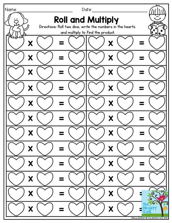 Roll and Multiply- Dice games make practicing multiplication facts FUN! Use this…