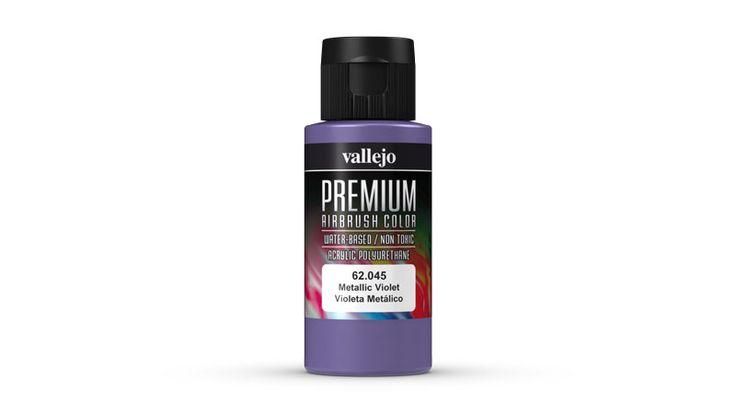 Pinturas al agua para aerógrafo Vallejo Premium. Increíbles colores metálicos.
