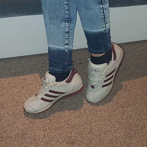 Adidas Country Rip getragen für Flohmarkt und Sammler? Gr. 38 Farbe Grau Violet