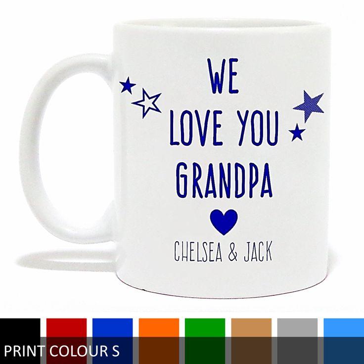 Personalised 'I Love You Grandpa/Poppy' Mug