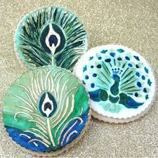 Image result for peacock cookies