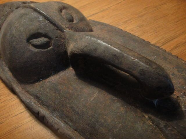 PNG tribal mask RAMU River earth pigment Boylan 1970's Papua New Guinea 50cm