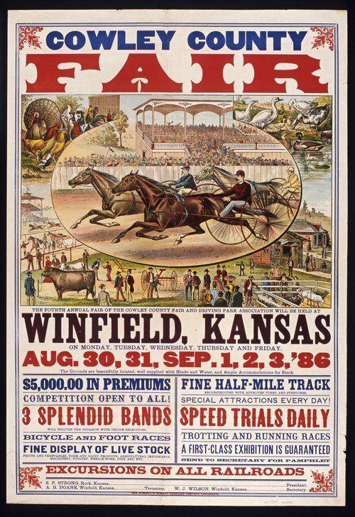 Cowley County fair, Winfield, Kansas - 1886