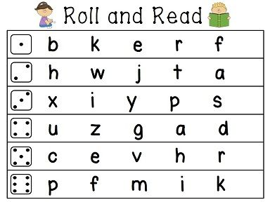 Roll and Reads for basic skills like lowercase letters, capital letters, mixed, shapes, etc.!