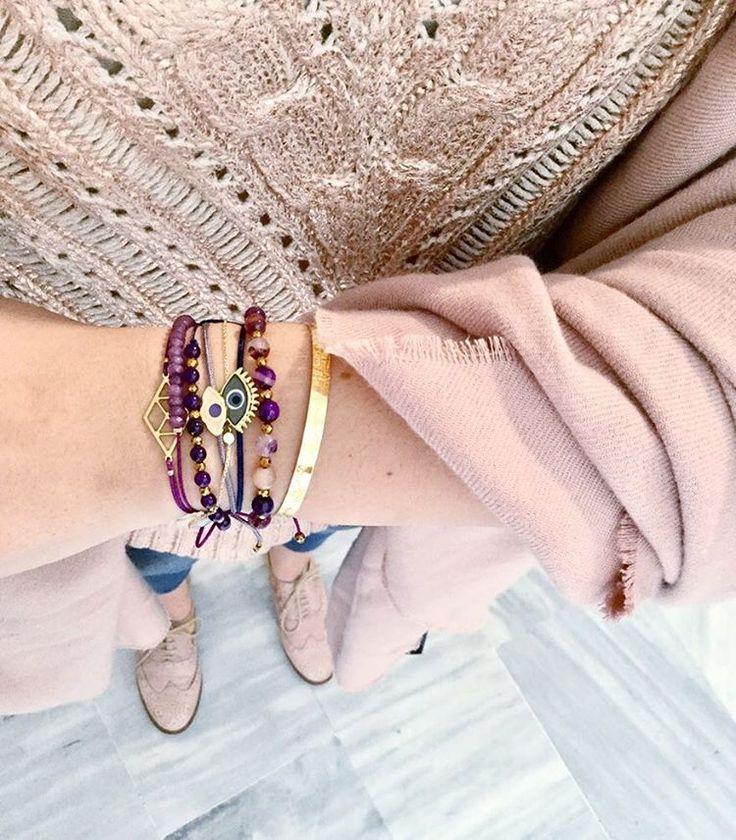 mylifelikes.grArmparty in purple tones  #armparty #armcandy #ootdshare #materialmix #instafashion #armband #gems #jewelryaddict #mylifelikes