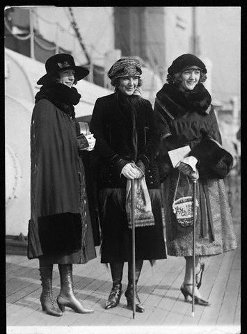 Natalie , Constance and Norma Talmadge. How glamorous it would be to travel by ocean liner