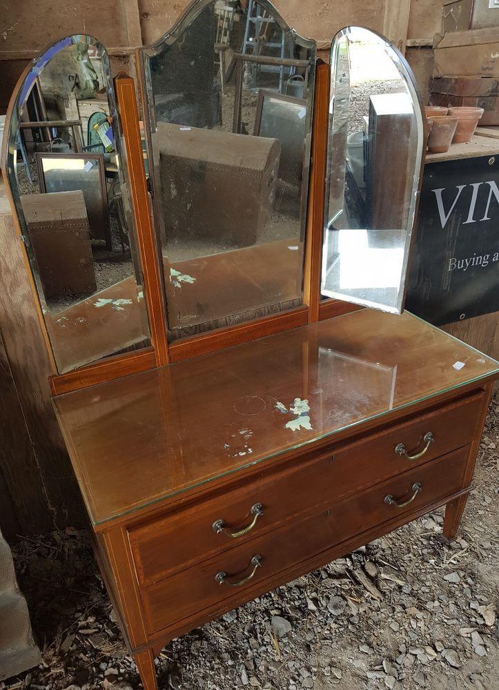 Vintage Retro Dressing Table With Mirror Retro Dressing Table Dressing Table Mirror Retro Vintage
