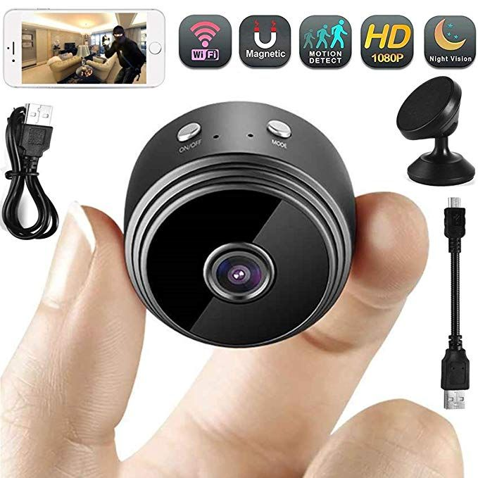 Hidden Camera Wifi Portable Mini Home Small Spy Security Camera Nanny Cam Built In Battery Motion Detection Night Vision App Works With Iphone Android Ios Pc Re